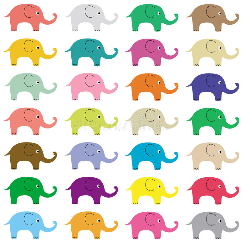 Download Elephants background5 stock vector. Image of mammal, decoration - 37807937