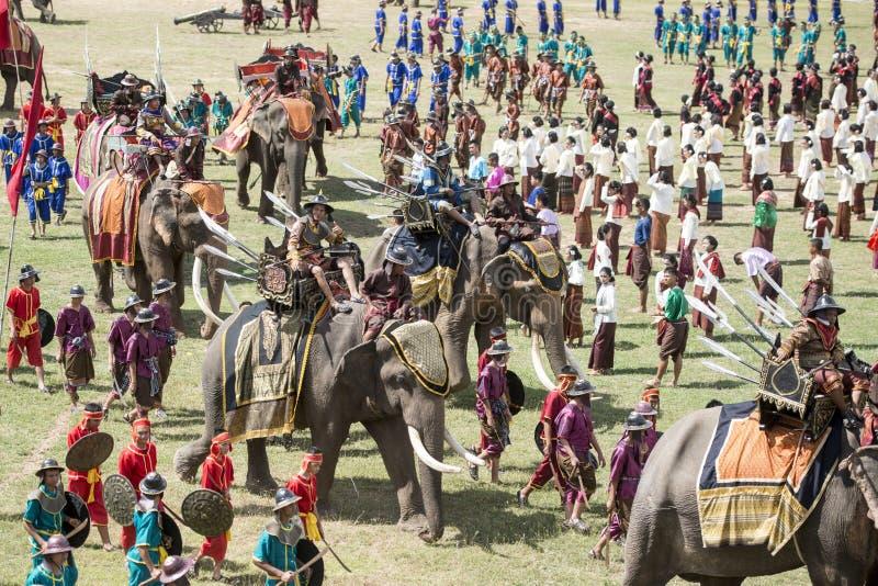 THAILAND ISAN SURIN ELEPHANT FESTIVAL ROUND UP royalty free stock image