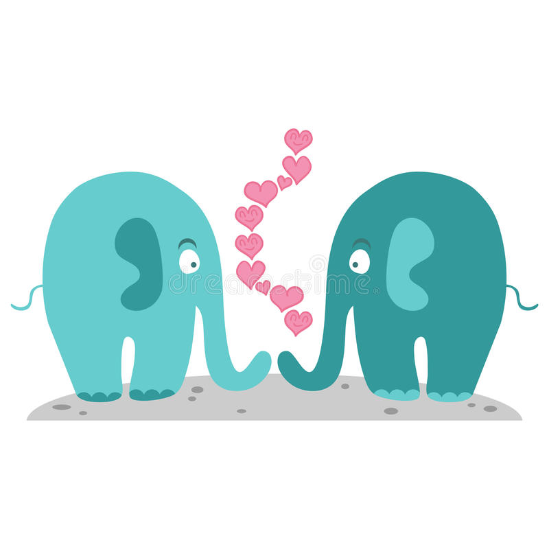 Elephants In Love Stock Photography
