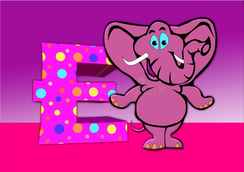 Elephants And Mammoths, Pink, Cartoon, Mammal royalty free stock photography
