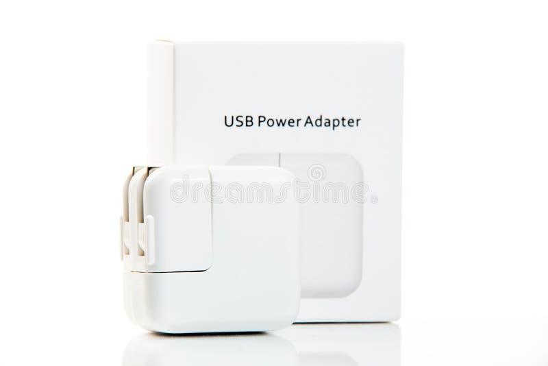 Eletrônica Adaptador do poder de USB fotos de stock