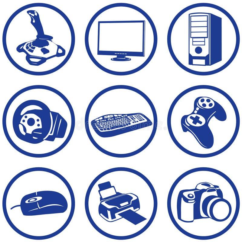 Eletrônica de Pictogrammes. ilustração stock