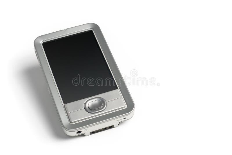 Eletrônica de prata PDA no fundo branco imagem de stock