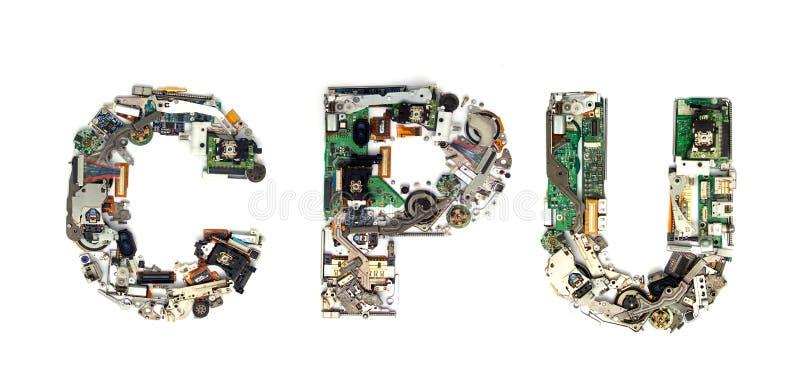 Eletrônica do processador central imagens de stock royalty free