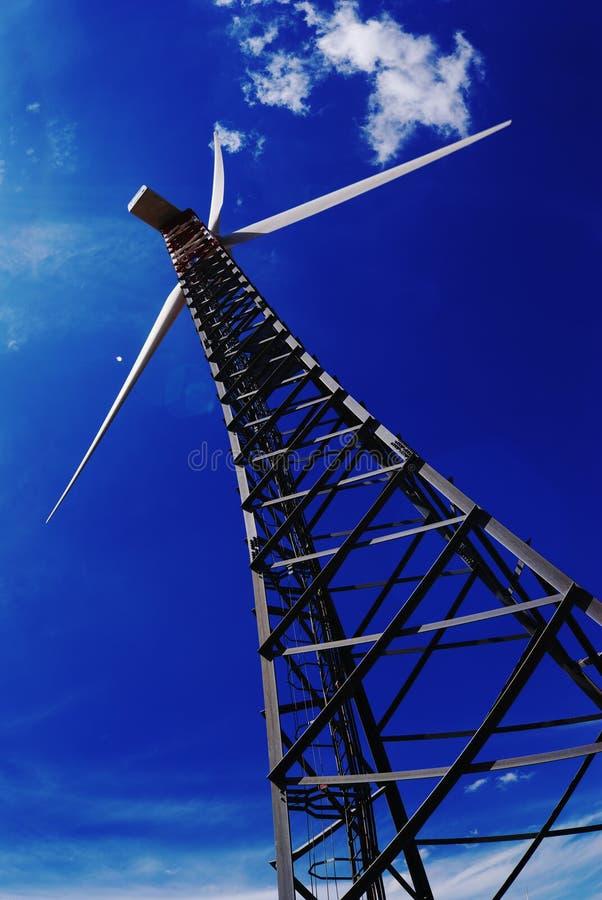 Eletricidade do gerador ao vento imagens de stock royalty free