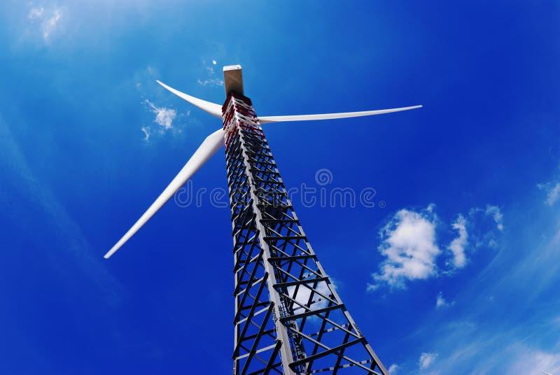 Eletricidade do gerador ao vento fotografia de stock