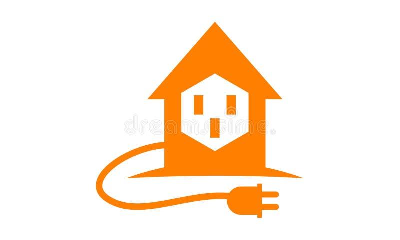 Eletricidade home Logo Design Template ilustração royalty free