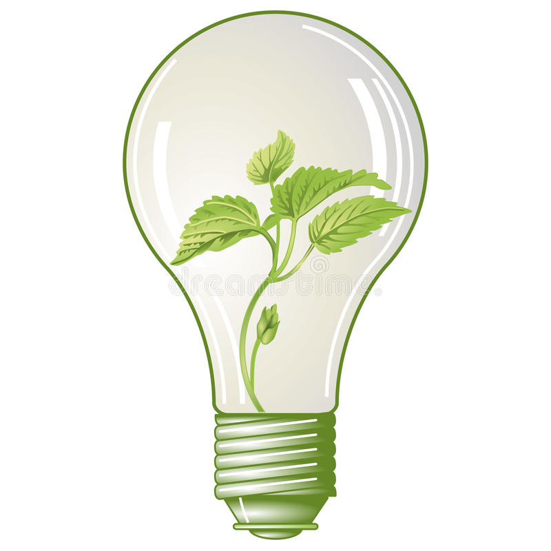 Eletricidade verde ilustração do vetor