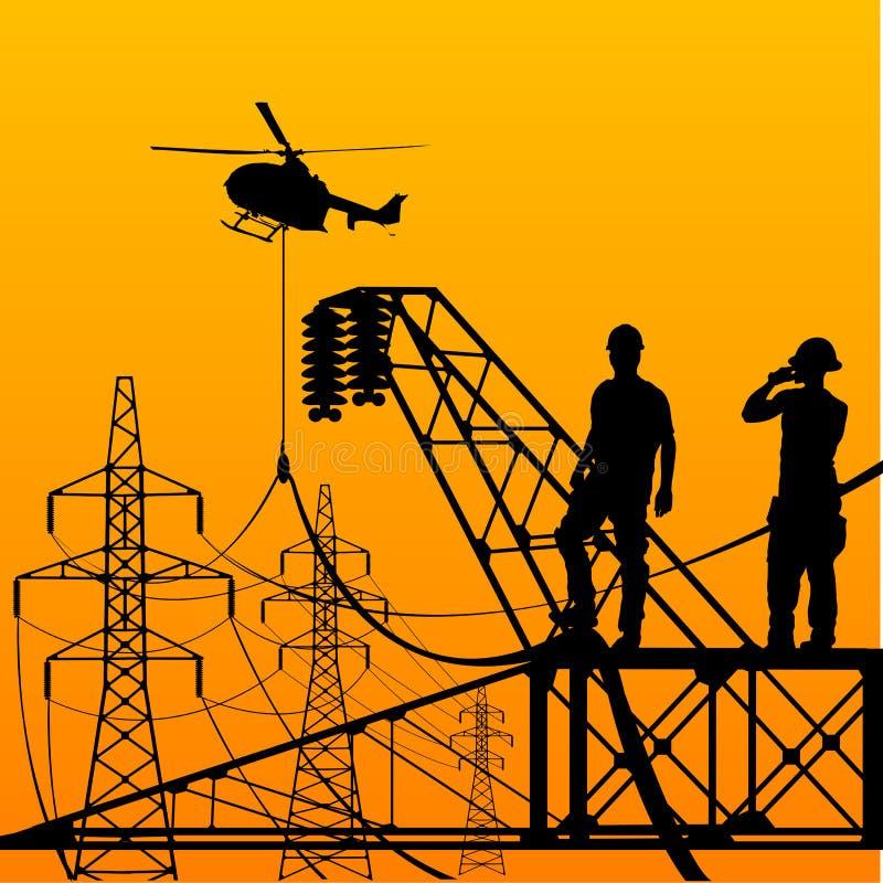 Eletricista. ilustração royalty free