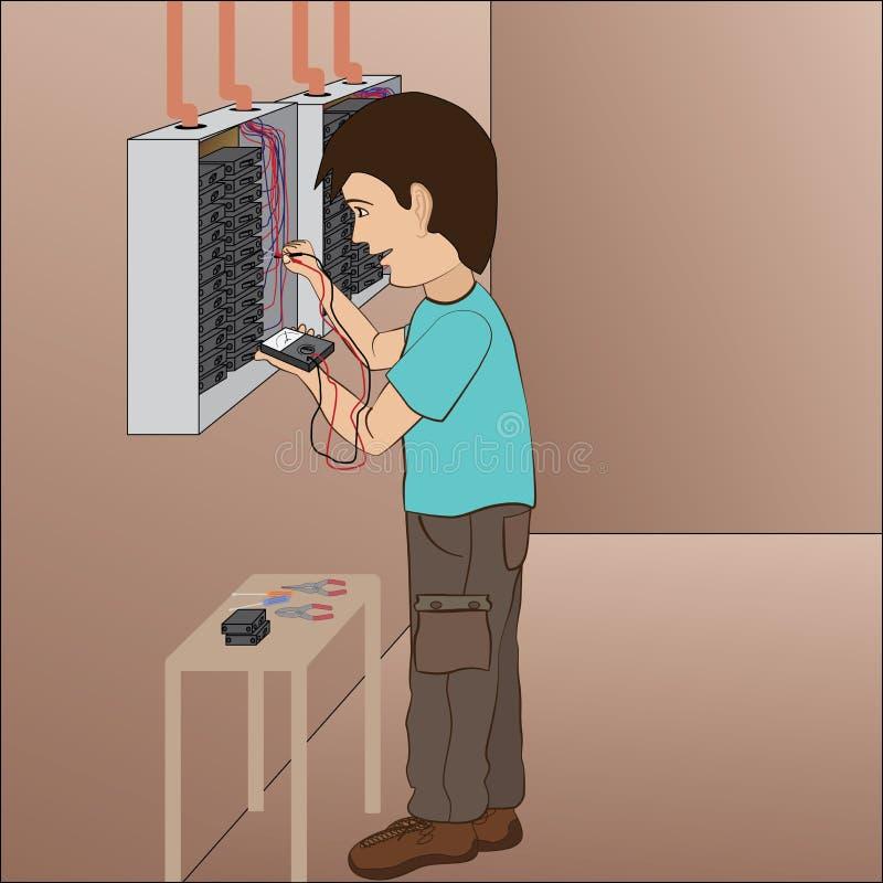 Eletricista ilustração stock