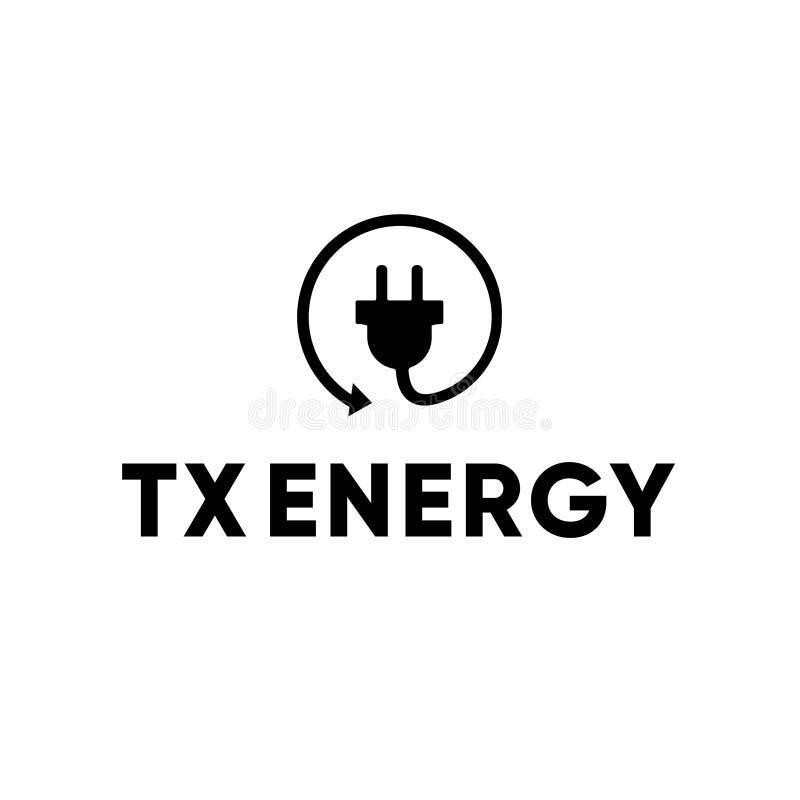 Eletricista bonde Recycle Plug Logo da energia fotos de stock royalty free