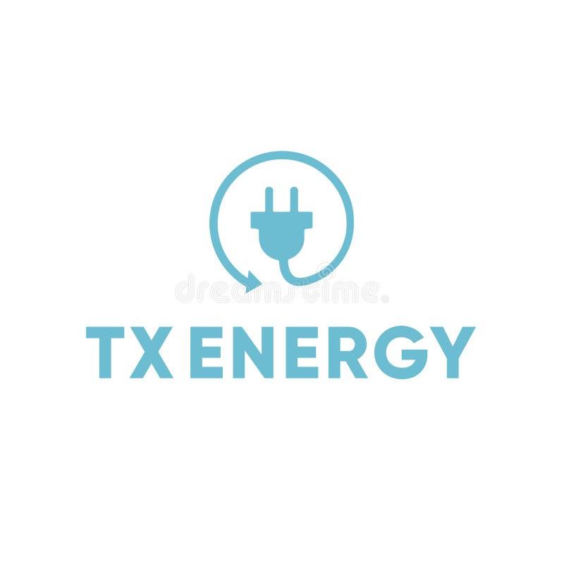 Eletricista bonde Recycle Plug Logo da energia imagem de stock royalty free