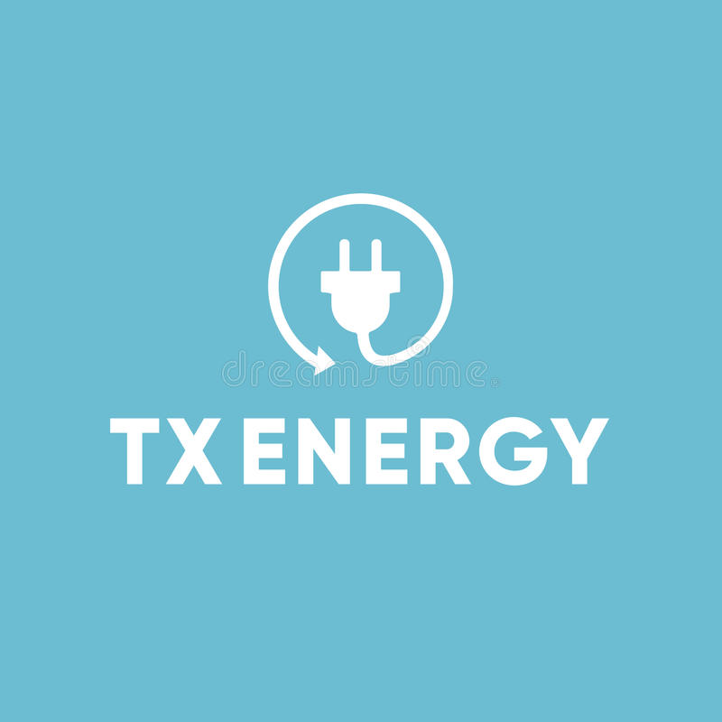 Eletricista bonde Recycle Plug Logo da energia foto de stock