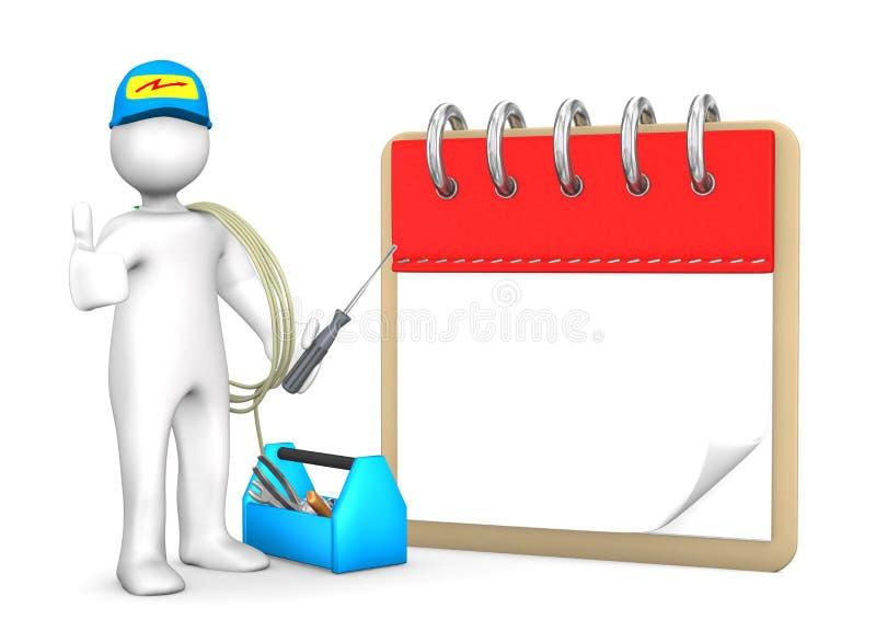 Eletricista Notepad ilustração do vetor