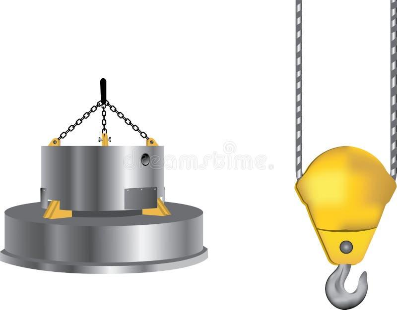 Eletroímã ilustração do vetor