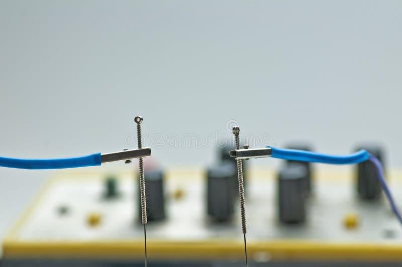 Eletro-acupunctura imagem de stock