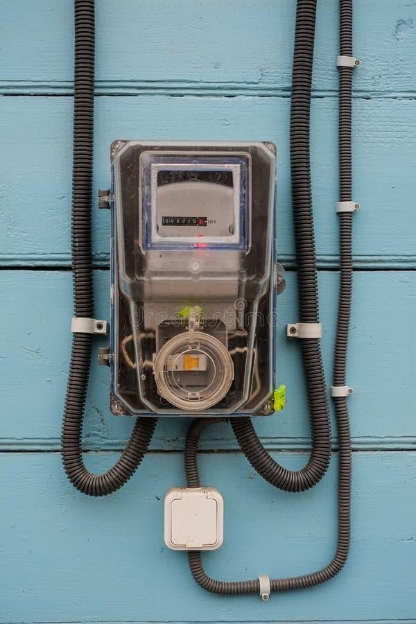 Eletro contador fotografia de stock