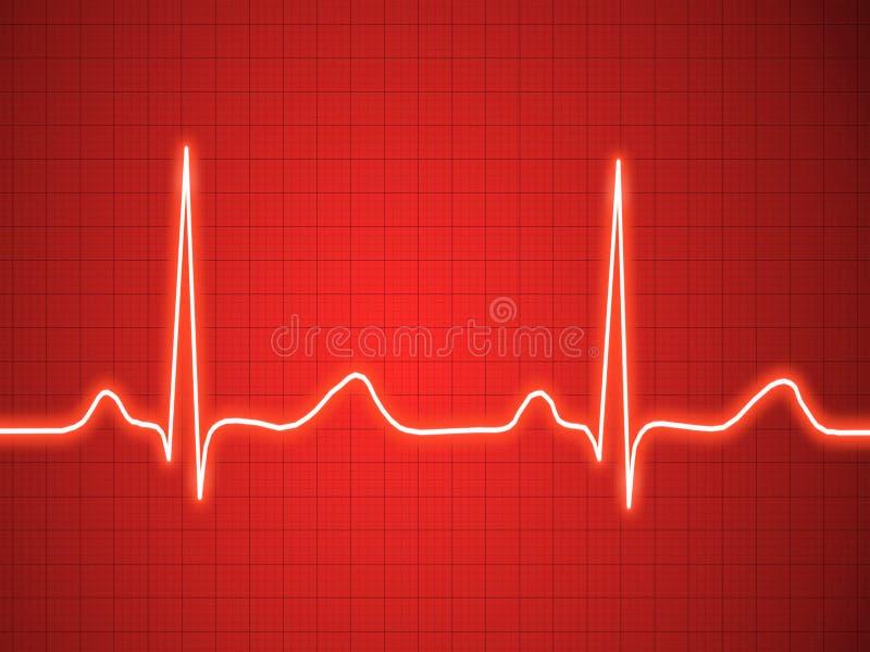 Eletrocardiograma, ecg, gráfico, traçado do pulso ilustração do vetor