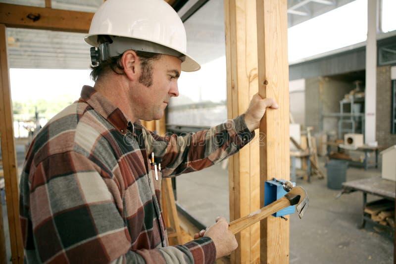 Elettricista della costruzione fotografia stock libera da diritti