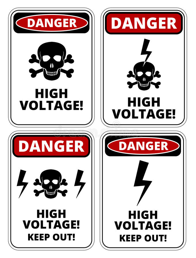 Download Elettricità Ad Alta Tensione 3D Illustrazione Vettoriale - Illustrazione di beware, rosso: 56877145