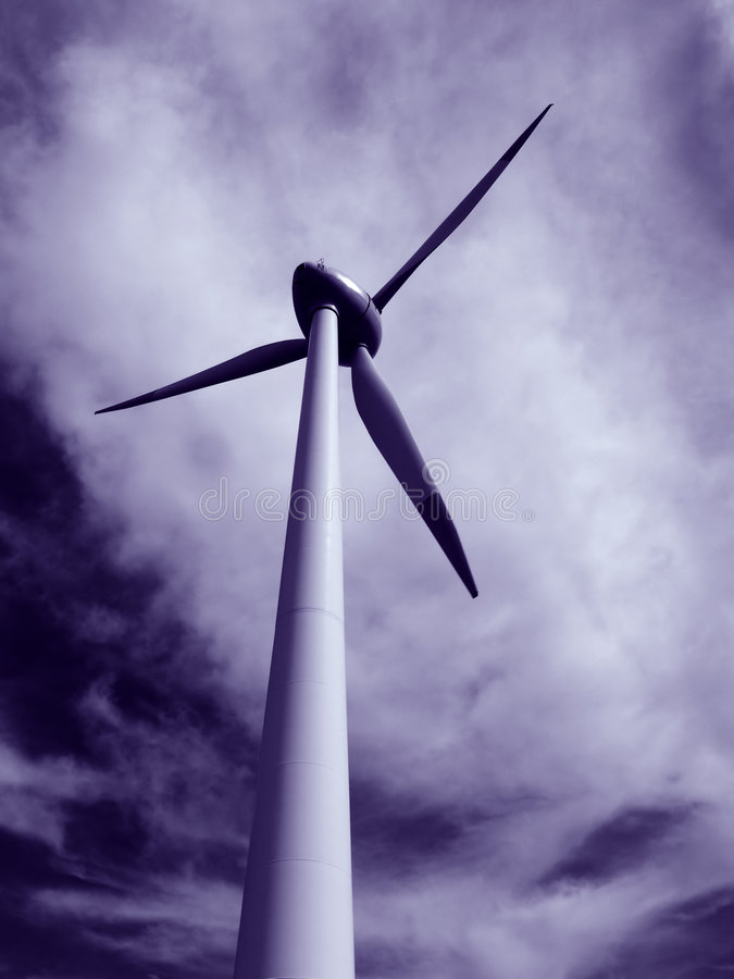 Elettricità di Eolic immagine stock