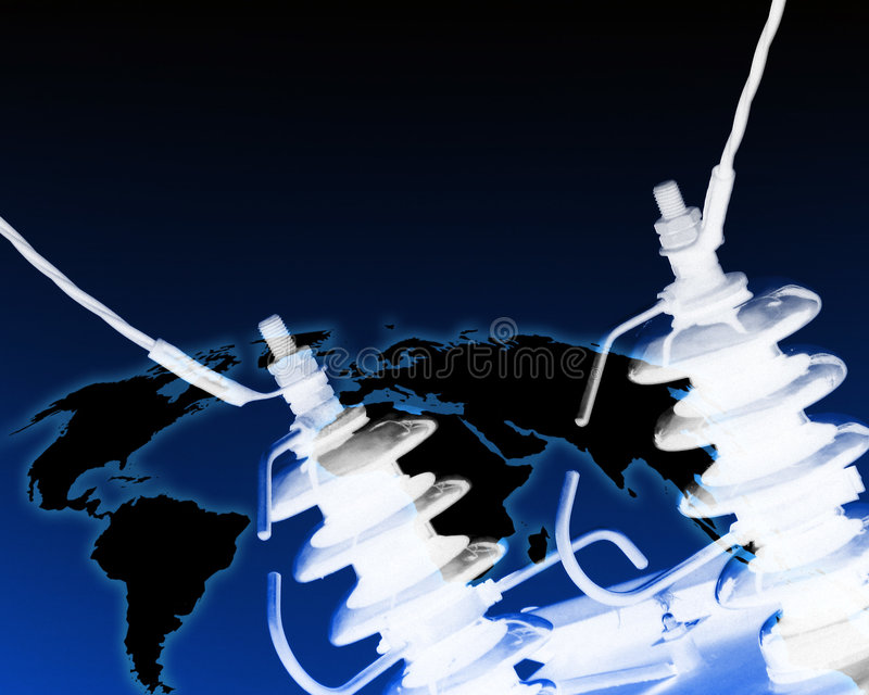 Elettricità in tutto il mondo illustrazione vettoriale