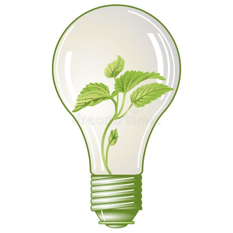 Elettricità verde illustrazione vettoriale