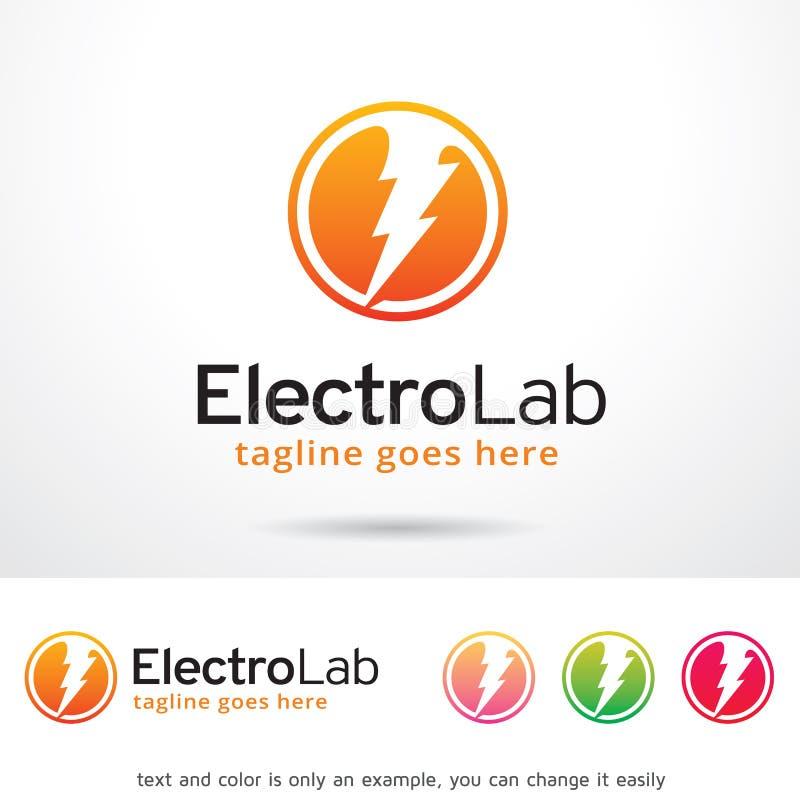 Elettro laboratorio Logo Template Design Vector, emblema, concetto di progetto, simbolo creativo, icona illustrazione di stock