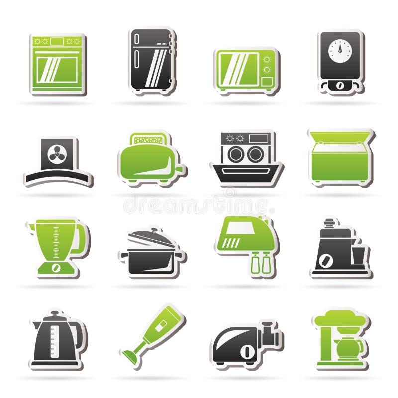 Elettrodomestici da cucina ed icone dell 39 attrezzatura illustrazione vettoriale illustrazione - Elettrodomestici da cucina ...