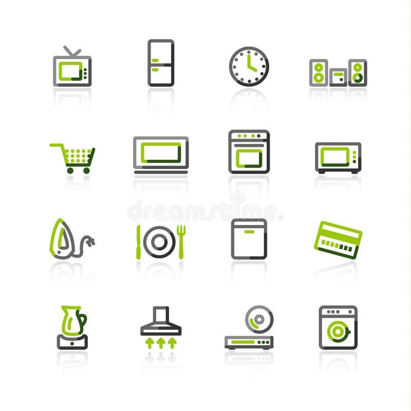 elettrodomestico Verde-grigio illustrazione vettoriale