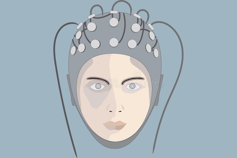 elettroencefalogramma 4 illustrazione vettoriale