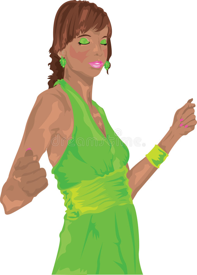 Elettrotipia della ragazza del randello royalty illustrazione gratis