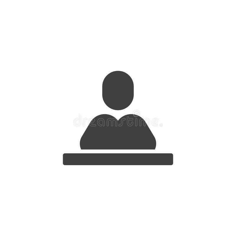 Elev på skrivbordvektorsymbolen vektor illustrationer