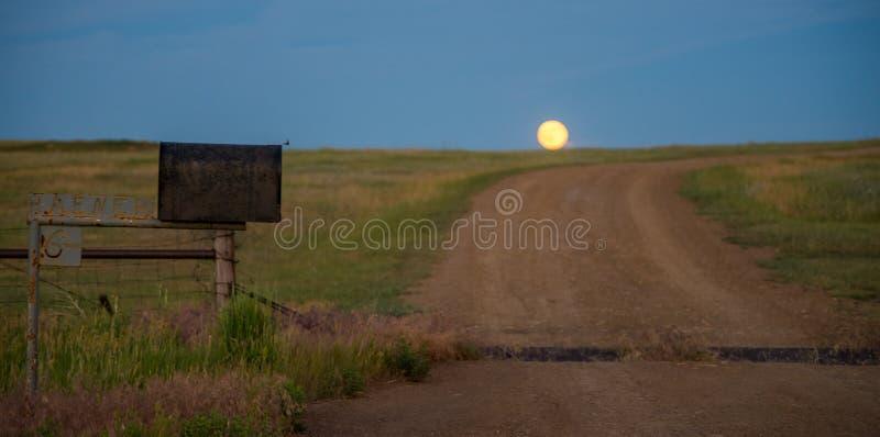 Elevação da lua fotografia de stock