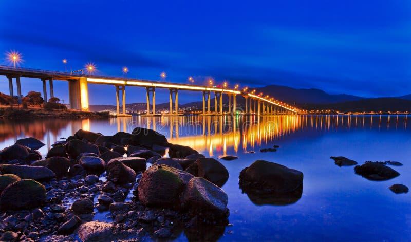 Elevação do lado da ponte de Tasman imagem de stock royalty free