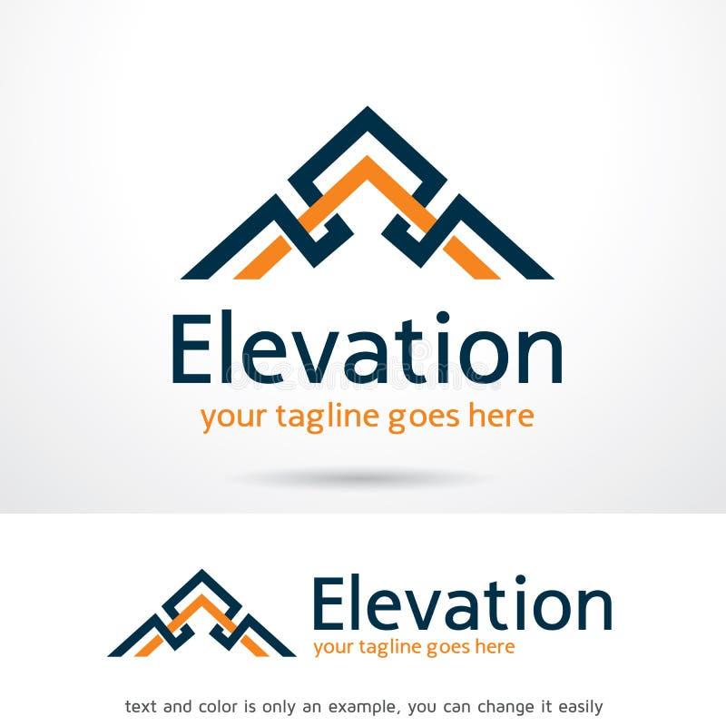 Elevação Logo Template Design Vetora ilustração royalty free