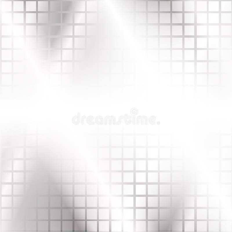 A elevação moderna - fundo da tecnologia de quadrados cinzentos e de um fulgor ilustração do vetor