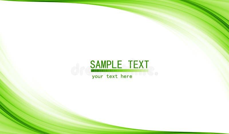 Elevação verde - fundo abstrato da tecnologia ilustração royalty free