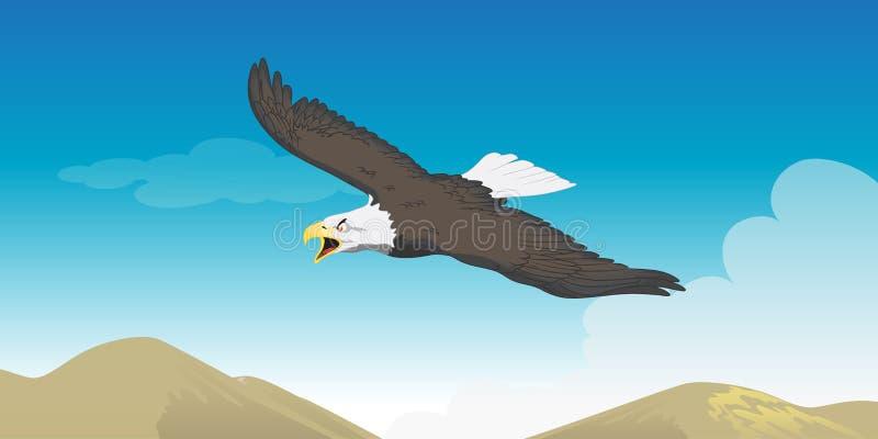 Elevación de Eagle ilustración del vector