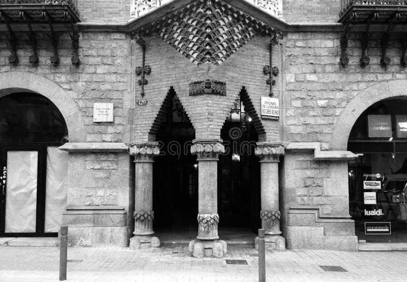 Elevación de la calle de Barcelona imagenes de archivo