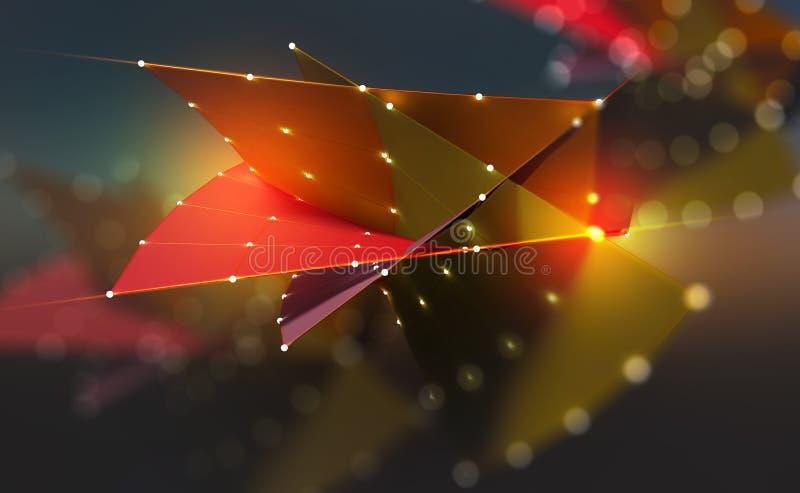 Elevación en espacio Una sensación abstracta del vuelo stock de ilustración