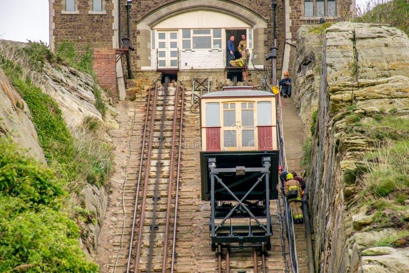 Elevación funicular en Hastings, Sussex del este imagen de archivo