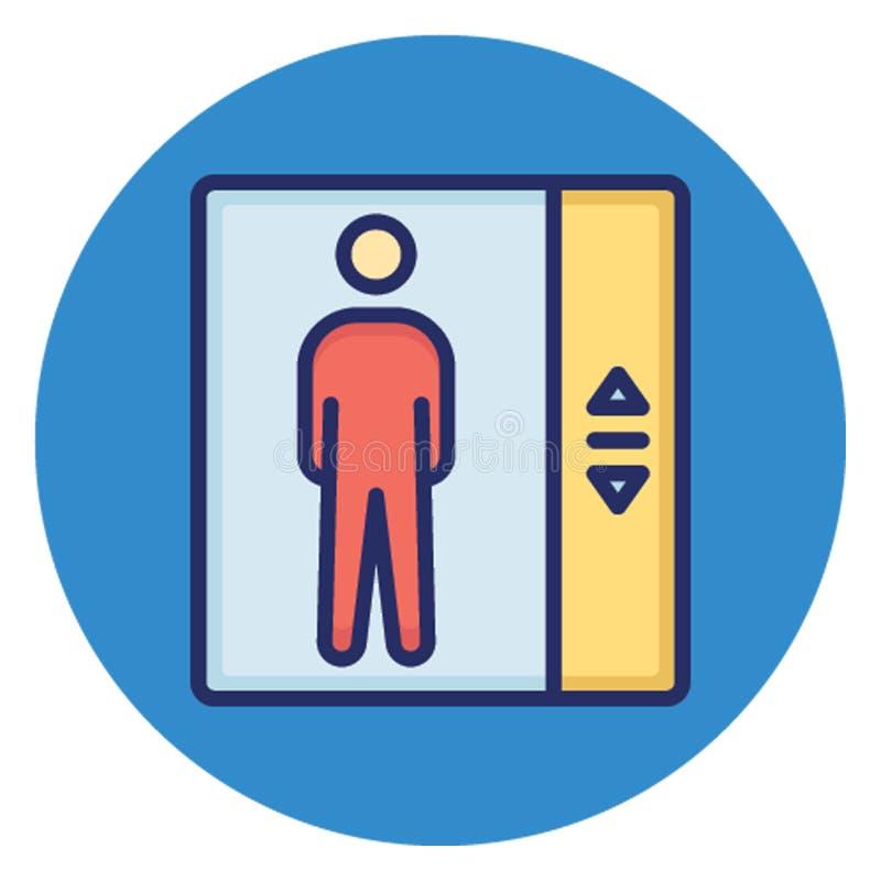 Elevador, ícone do vetor da porta do elevador que pode facilmente editar ilustração do vetor