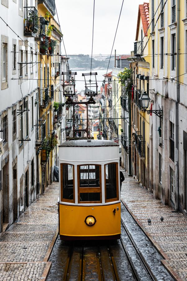 Free Elevador Da Bica In Lisbon Stock Photo - 121286380