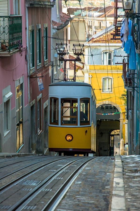 Elevador da Bica, Lisbon, Portugal. Elevador da Bica, Lisbon city, Portugal stock image