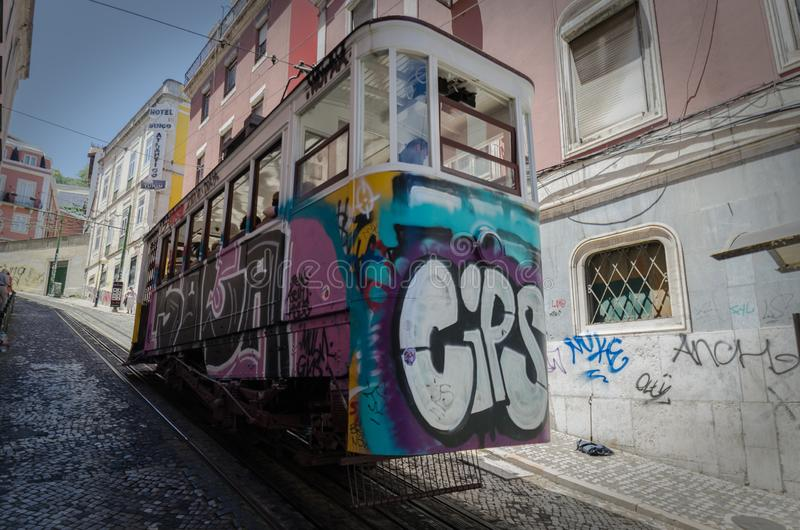 Elevador da gloria. Elevador da glória de Lisboa royalty free stock images