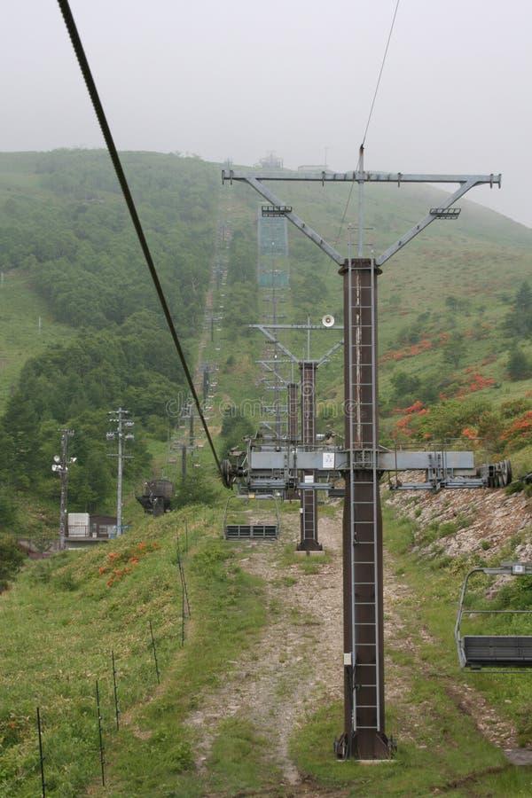 Elevador de esqui do verão em Nagano, Japão imagem de stock royalty free