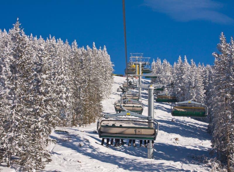 Elevador de esqui. Estância de esqui Schladming. Áustria foto de stock