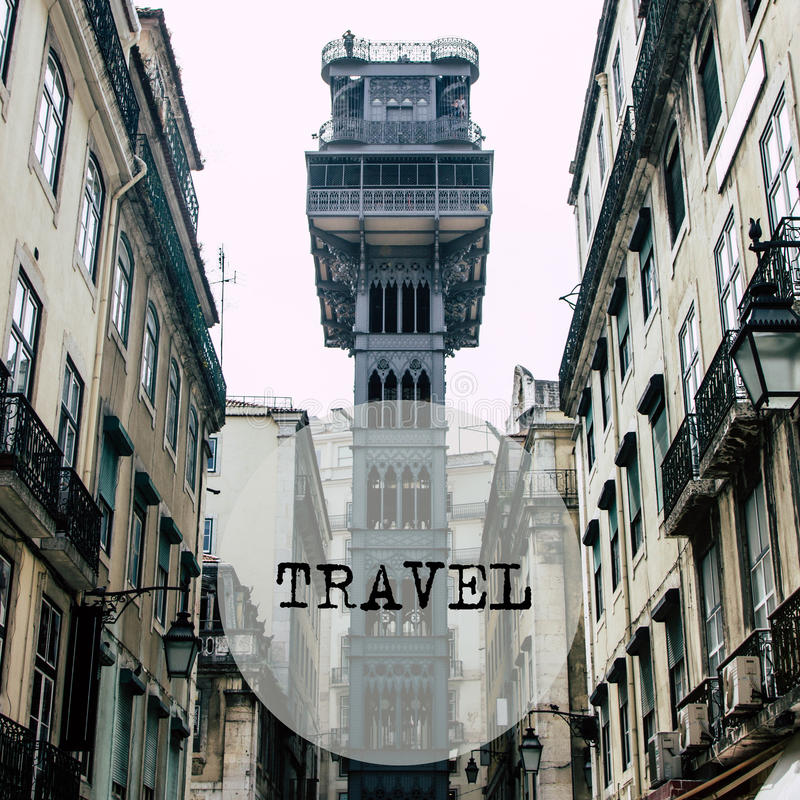 Download Elevador De Santa Justa In The Centre Of Lisbon, Portugal Stock Image - Image: 83723717