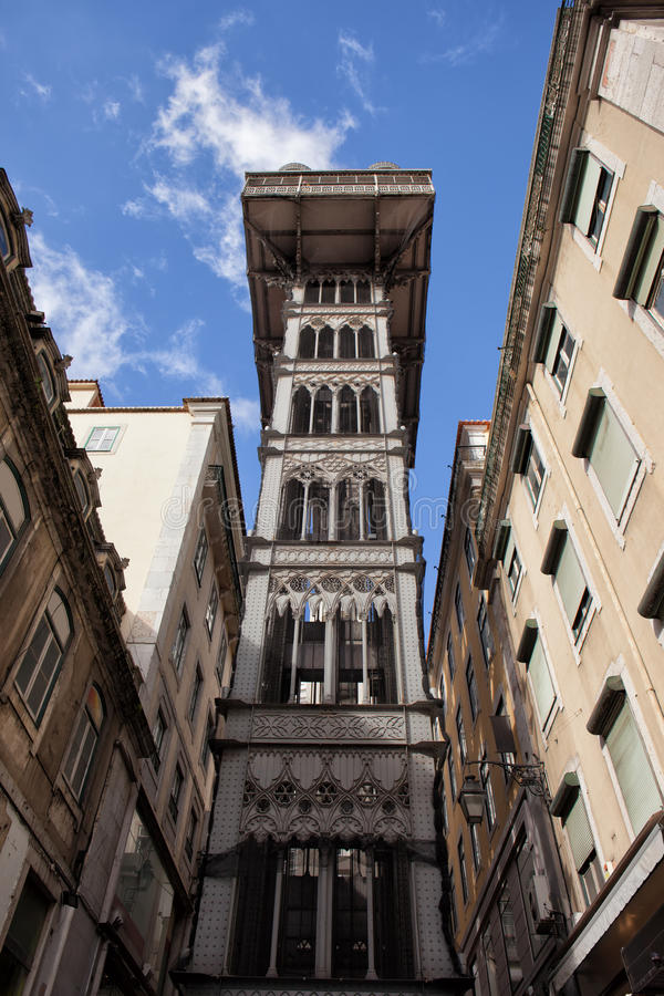 Elevador de Santa Justa in Lisbon. Santa Justa Lift (Portuguese: Elevador de Santa Justa) in Lisbon, Portugal royalty free stock photos